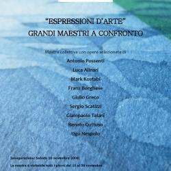 """""""Espressioni d'arte"""", mostra collettiva dal 10 al 30 novembre 2008. Opere di Possenti, Alinari, Kostabi, Borghese, Greco, Scatizzi, Talani, Guttuso, Nespolo."""