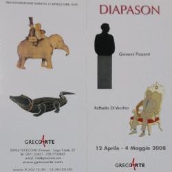 """""""Diapason"""", opere dei Maestri Giovanni Possenti e Raffaello Di Vecchio dal 12 aprile al 4 maggio 2008."""