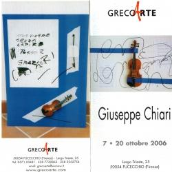 Mostra personale del Maestro Giuseppe Chiari dal 7 al 30 ottobre 2006