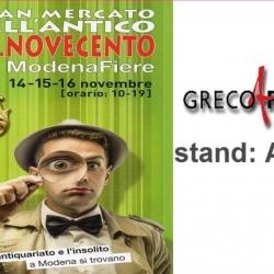 Gran Mercato dell'antico 7.8.Novecento, Modena Fiere. Dal 14 al 16 novembre 2015.