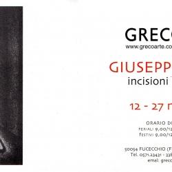 Mostra Personale del Maestro incisore Giuseppe Viviani dal 12 al 27 novembre 2004.